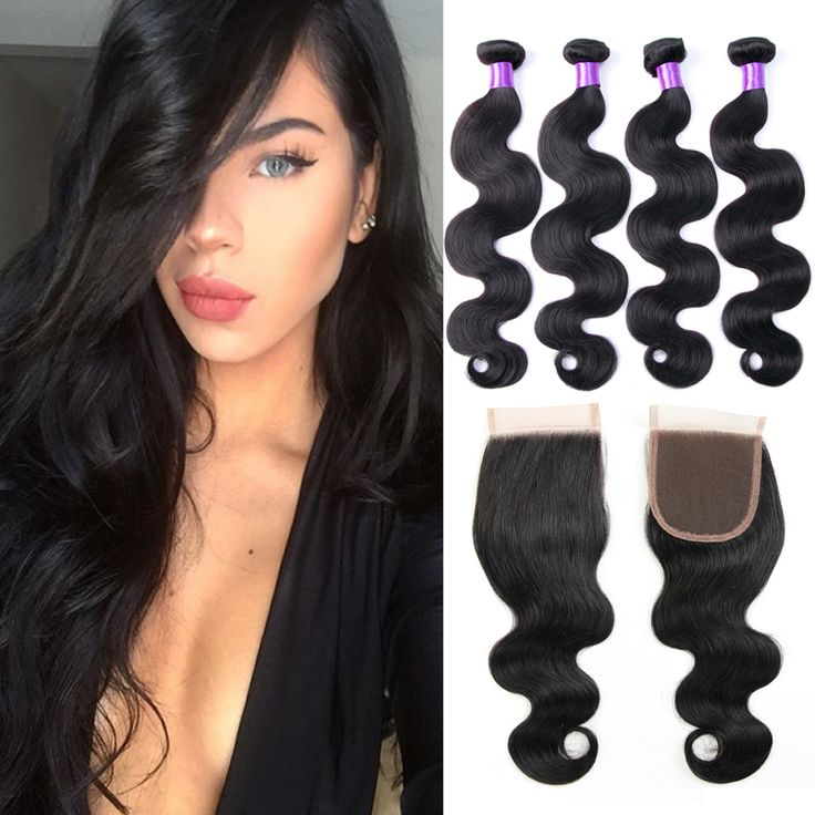 8A Grade Brazilian Virgin Hair With Closure Brazilian Body Wave Human Hair Bundles With Lace Closures Ali Moda Hair With Closure