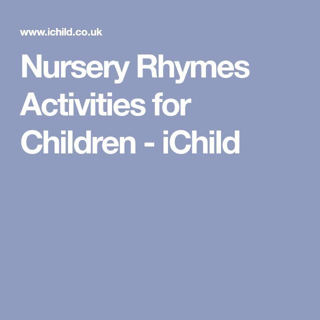 Nursery Rhymes Activities for Children - iChild
