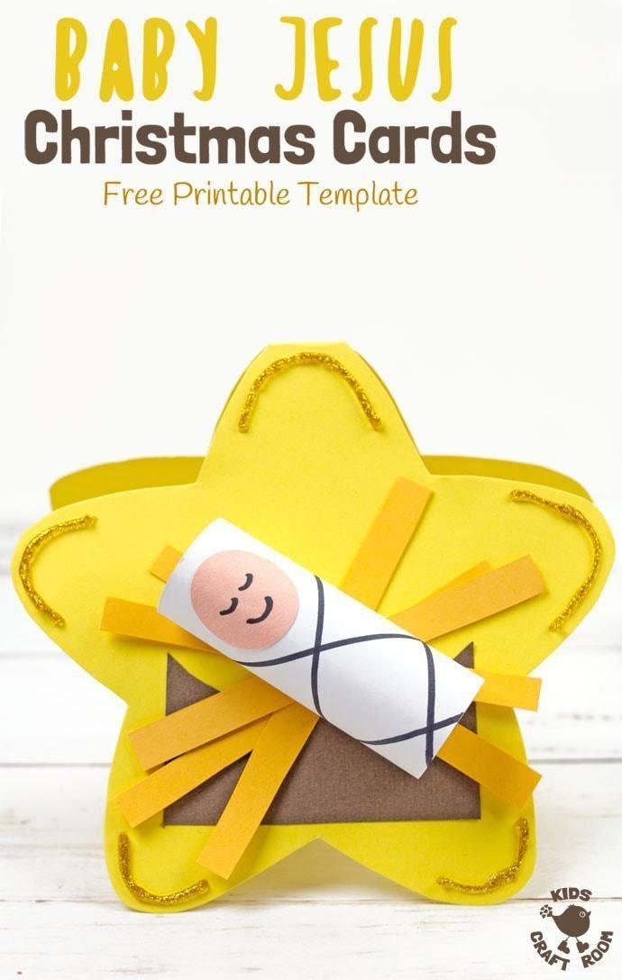 Baby Jesus Christmas Cards Baby Jesus Craft Jesus Crafts Jesus Christmas Cards