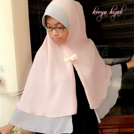 Soft dusty pink + soft grey # double layer ceruti instan pet # bolbal