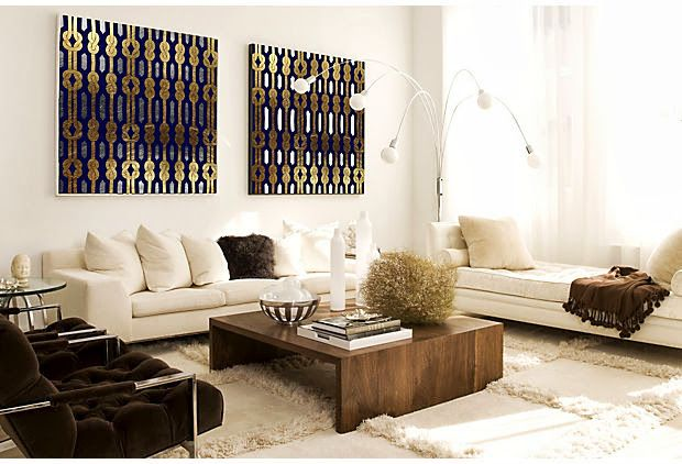 Coloque uma releitura moderna no seu espaço de vida, com linhas limpas e estampas geométricas.