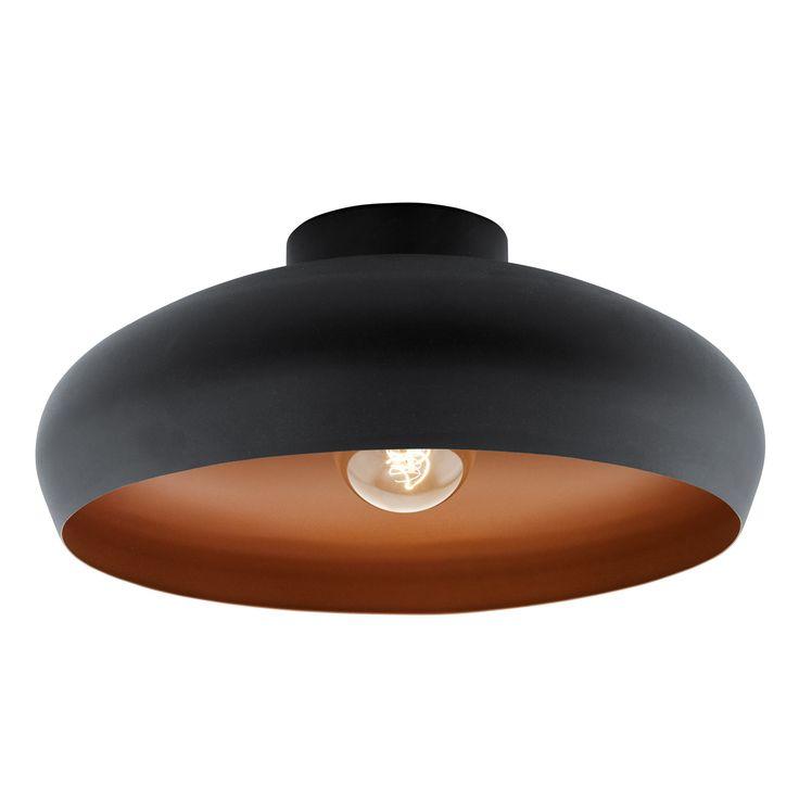 Plafonnier rond Mogano Matière : acier Dimensions : Diamètre : 40 cm Hauteur : 17 cm Fonctionne avec une ampoule culot E27 puissance 60 watts non fournie ...