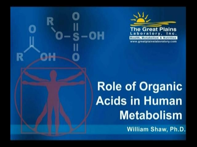 Dr. Shaw explains The Great Plains Lab's Organic Acids Test (OAT)  The OAT provides a metabolic snapshot based on what the body discards through urine. OA molecules are byproducts of cellular activity, digestion of foods, and the metabolism of GI flora. OA's in urine may be indicators of toxicity or of the function of metabolic pathways. Levels of yeast or gastrointestinal bacteria metabolites are compared to normal levels of metabolites, providing an assessment of yeast and bacterial…