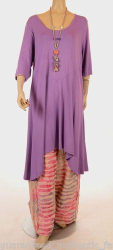 Lagenlook Fantabulous Fluted Tunic Dress UK 14 16 18 | eBay