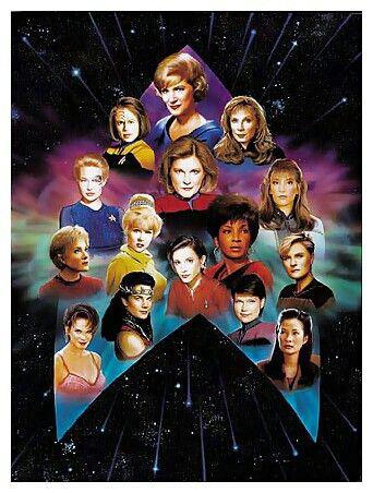 The women of Star Trek TV series.