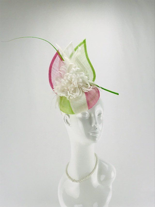Ascot Weddings Races,Prom Nude pink fascinator with comb and elastic