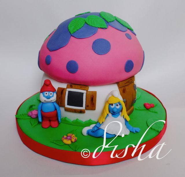 Smurfs cake (dort Šmoulové)