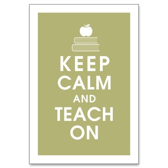 Keep Calm and Teach On 13x19 Poster FROG PRINCE by KeepCalmShop, $15.95