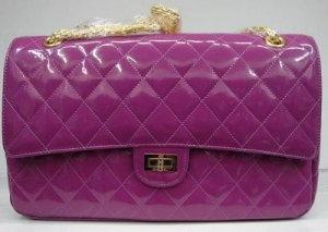 Chanel Handbag 1113 ( purple patent leather gold chain) [1113 ...