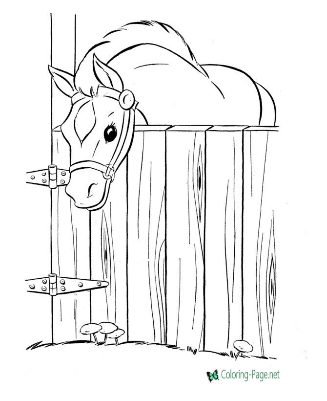 ausmalbilder pferde im stall  aglhk