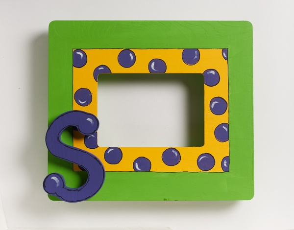 Initial Frame created with FolkArt paints - perfect for kids crafts