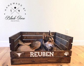 Pallet Dog Bed Pallet Cat Bed Pet Bedding by ClearbrookCrafts