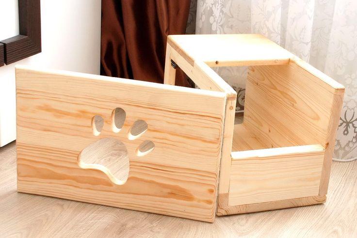 cat boxes wooden boxes leg