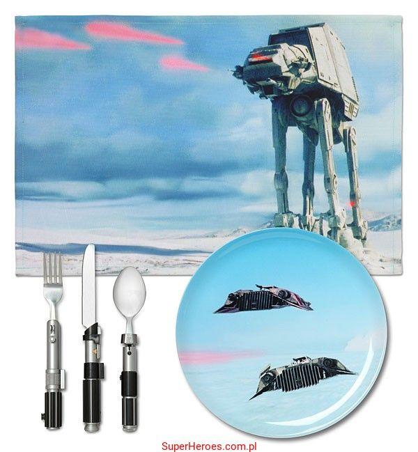 Zestaw obiadowy Star Wars - planeta Hoth
