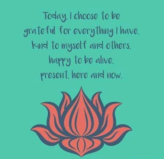 Today I choose to be grateful. To be happy to be alive. To be present, here and now...................................................................................................................................................................................................self love self care meditation meditate mindful yoga zen buddhism buddhist