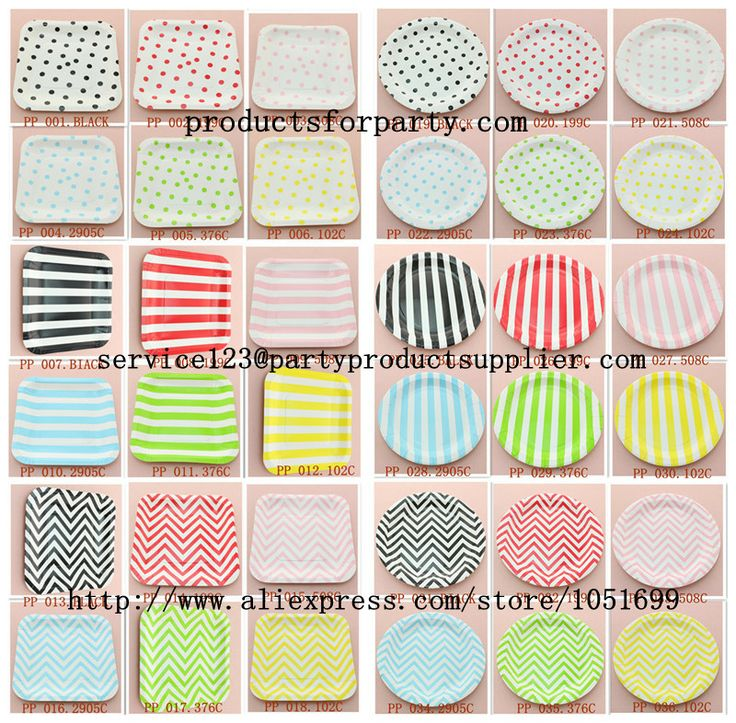 red green yellow black pink blue striped polka dot chevron paper  sc 1 st  Pinterest & 95 best Paper Dinnerware Set----paper plate and cup images on ...