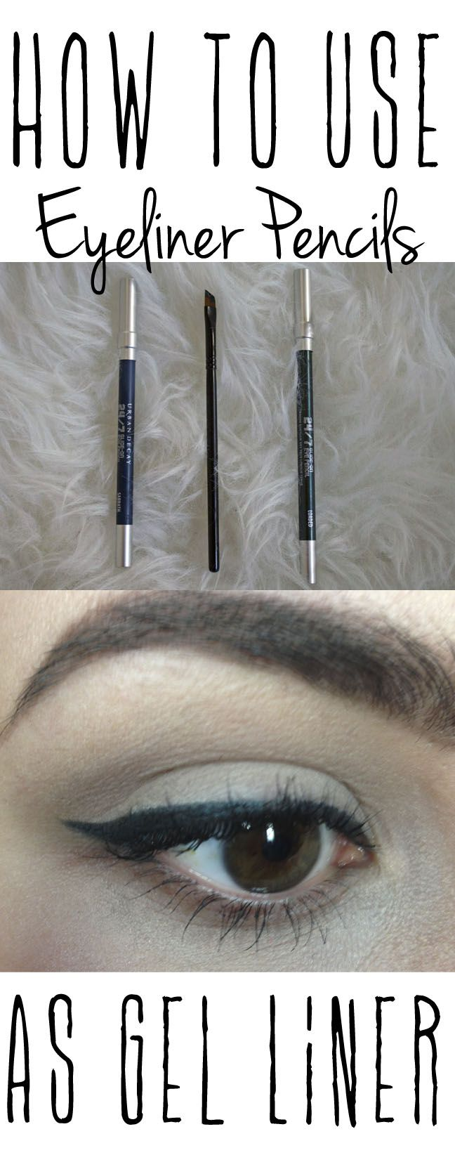 How to use your eyeliner pencil like a gel eyeliner!