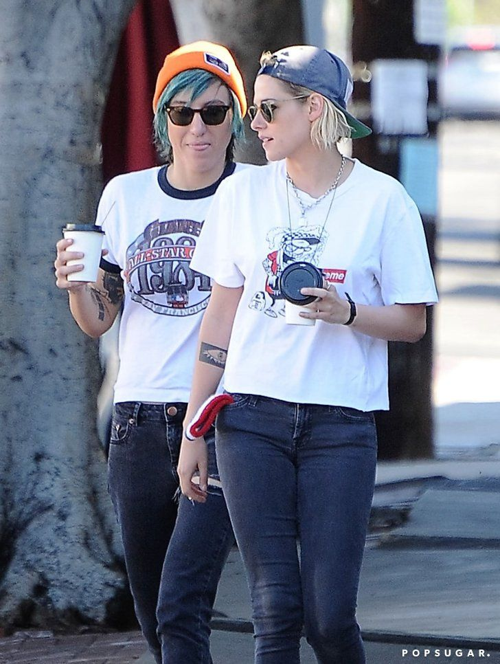 Pin for Later: Kristen Stewart Spotted Kissing Back-On Girlfriend Alicia Cargile During a Coffee Run