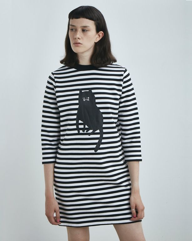 Lazy Oaf Stripey Cat Dress - Everything - Categories - Womens