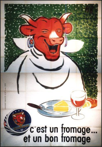 La vache qui rit. vintage and antique advertising art in France