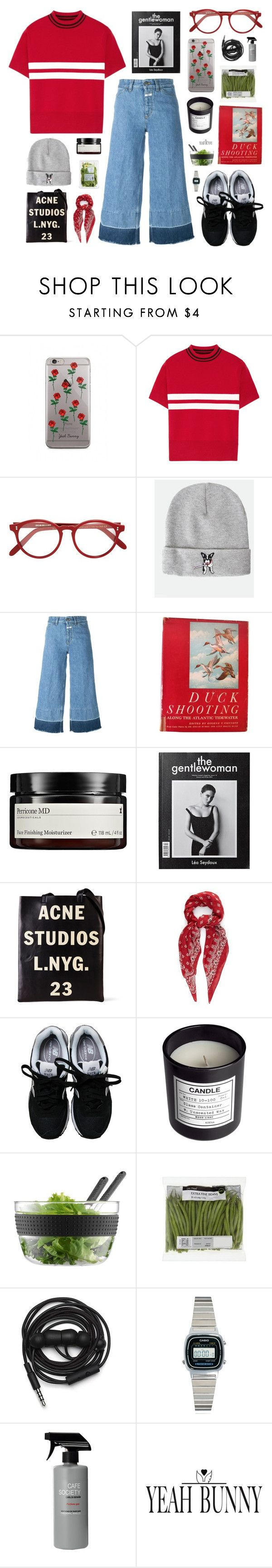 """""""Yeahbunny"""" by jesicacecillia ❤ liked on Polyvore featuring Tim Coppens, Cutler and Gross, Closed, Perricone MD, Acne Studios, Yves Saint Laurent, New Balance, H&M, Bodum and Urbanears"""