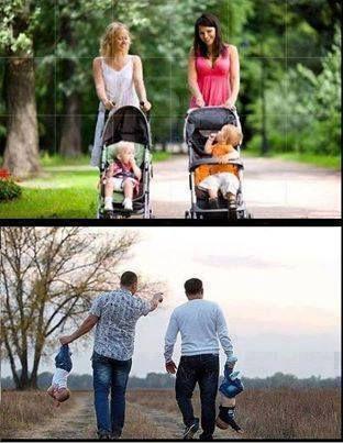 De mama gaan wandelen  de papa gaan wandelen