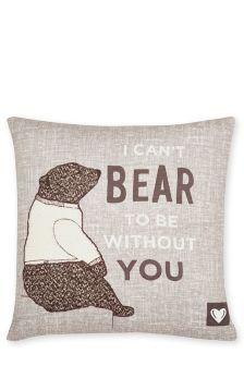 Bear Printed Cushion