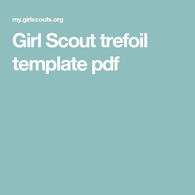 Girl Scout trefoil template pdf