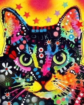 Beautiful.  The cat's stare is like my cat's Esmeralda.   dean russo art