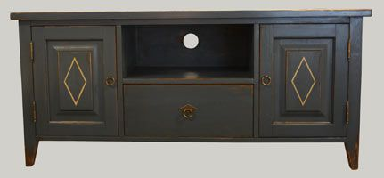 Sininen TV-taso, TV stand painted blue