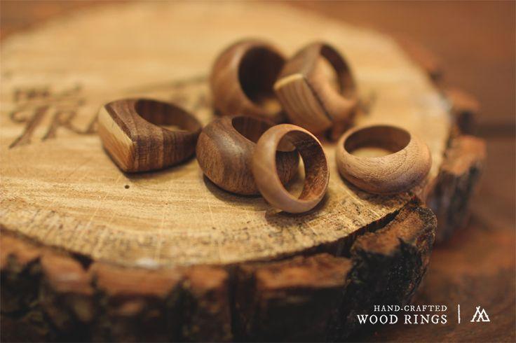 WOODEN Rings - Walnut www.tsmn.cc