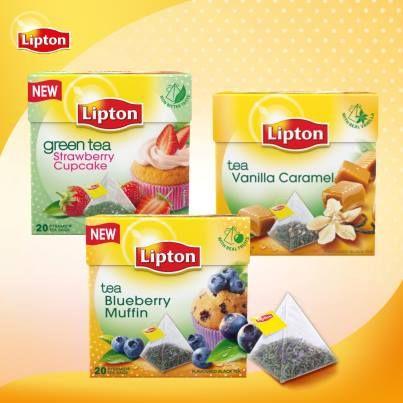 Näitä uusia Liptonin teitä haluisin maistaa. Green Tea Strawberry Cupcake, Blueberry Muffin ja Vanilla Caramel