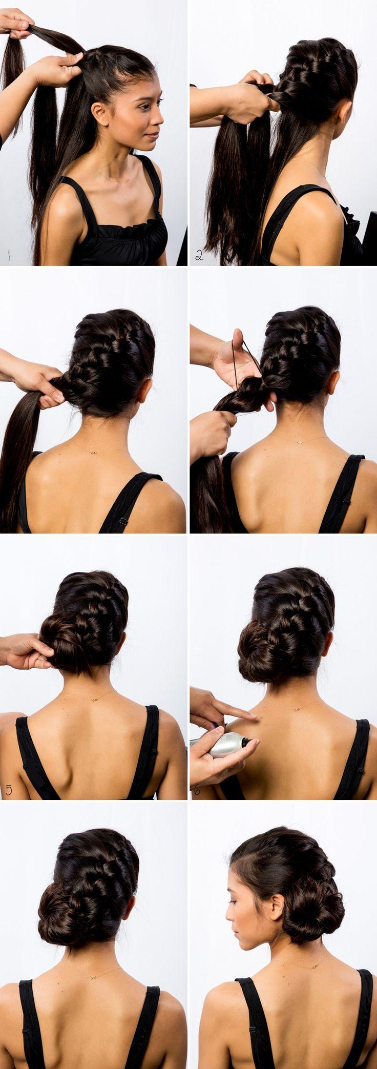 Side Bun Braid Hair Tutorial - Stylishlyme