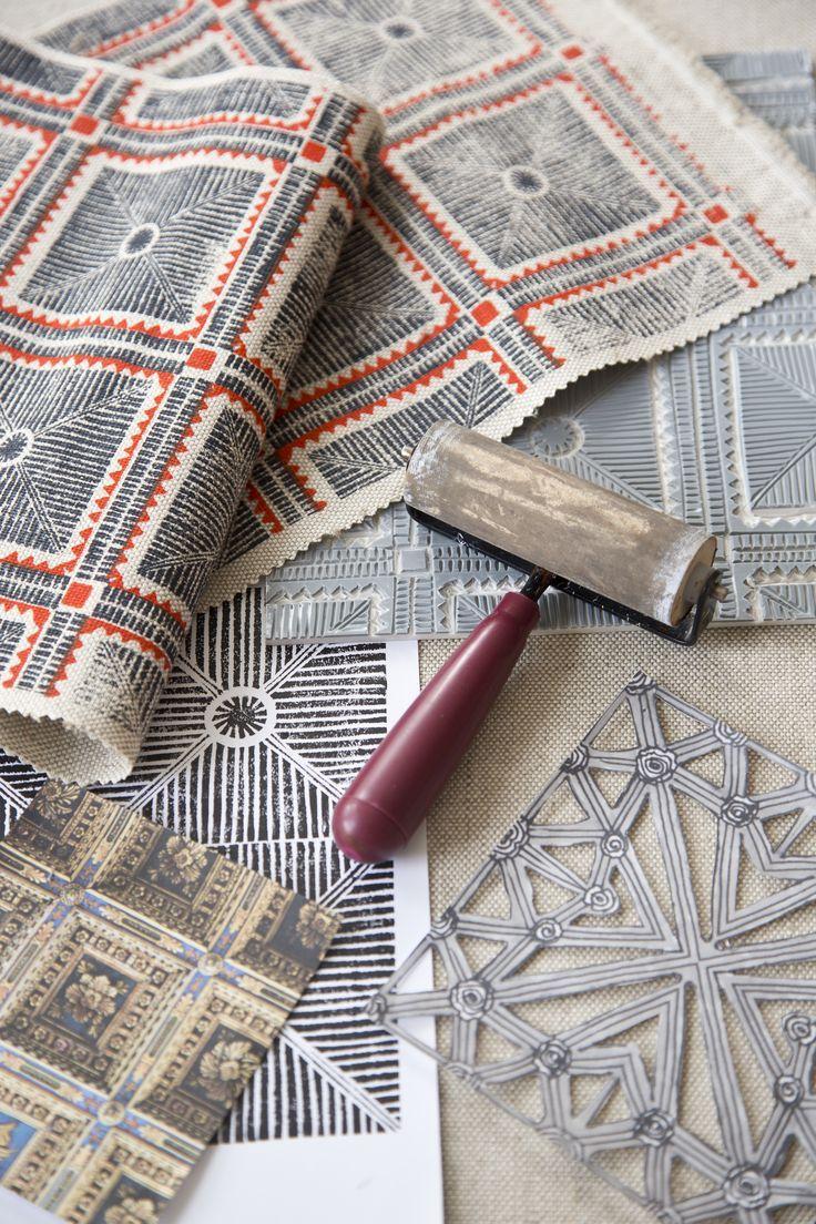 'pisa' textile design by maresca textiles Inspiration for Block Printing