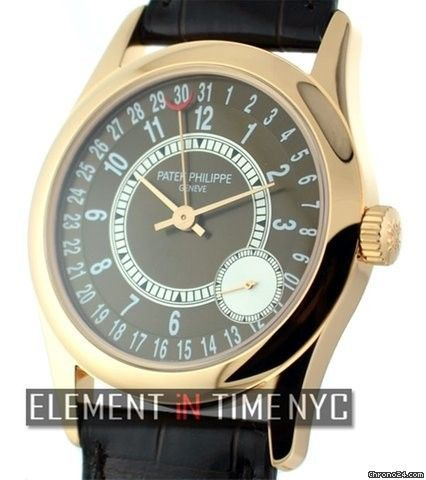 Patek Philippe Calatrava 18k Rose Gold Brown Dial Ref. 6000R Price On Request