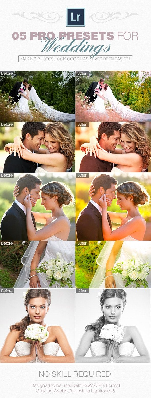 05 Pro Presets for Weddings