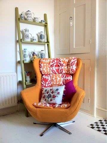 G-Plan Egg Chair, which I recovered in Ikea fabric.....lush!