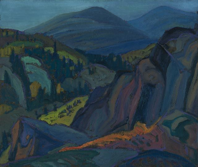 """Port Coldwell (I),"" Frank Carmichael, 1928, oil on wood-pulp board, 10 x 12"", National Gallery of Canada."