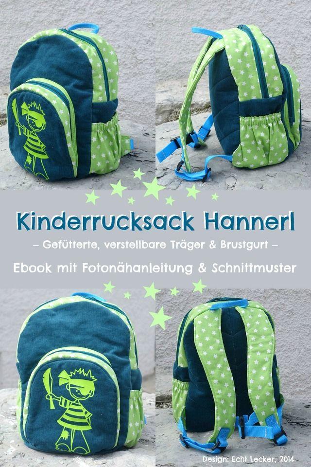 Kinderrucksack Hannerl, Kreativ-Ebook - farbenmix Online-Shop - Schnittmuster, Anleitungen zum Nähen