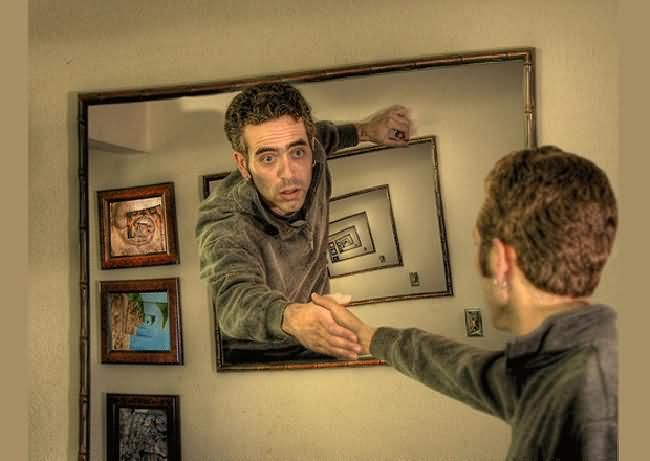 Image result for droste effect mirrors