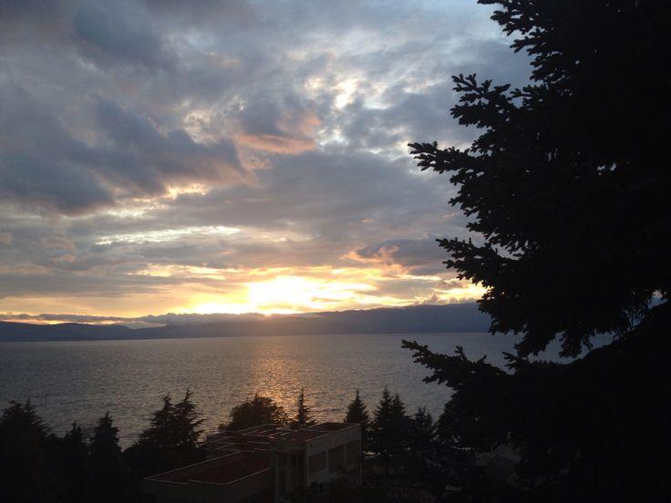 Sun set - Macedonia lake