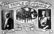The three Triple Entente leaders; David Lloyd George (England), Raymond Poincare (France), and Czar Nicholas II (Russia).