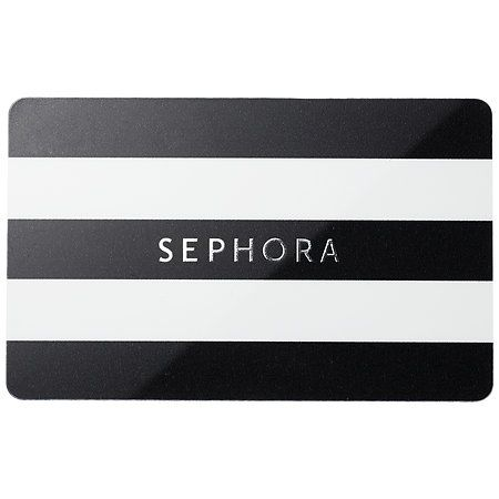 What to give? The Sephora gift card. It comes in a sleek, black compact embossed with the Sephora logo and available in denominations of $25 to $250.