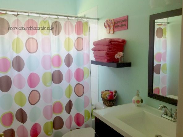 Decorating A Tween Girl Bathroom   Recreate And Decorate