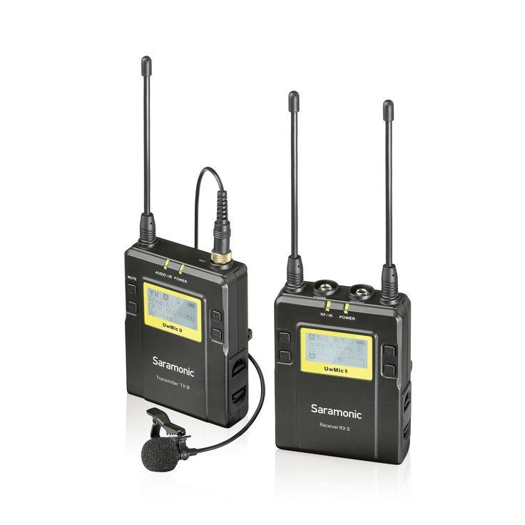 Saramonic UWMIC9 96-Channel Digital UHF Wireless Lavalier Microphone System with 2 Bodypack Transmitters, Portable Receiver, 2 Lav Mics, Shoe Mount, XLR/3.5mm Outputs + More  https://www.bl2.it/it/177_saramonic