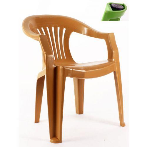Çubuklu kollu plastik sandalye Teak