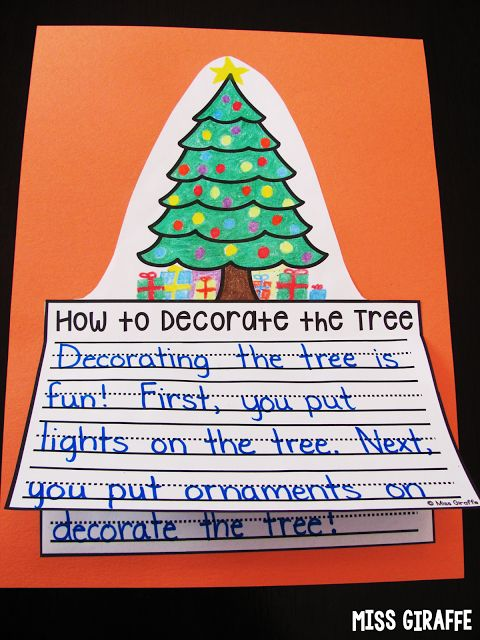 How to Decorate a Christmas Tree and other fun writing activities for December