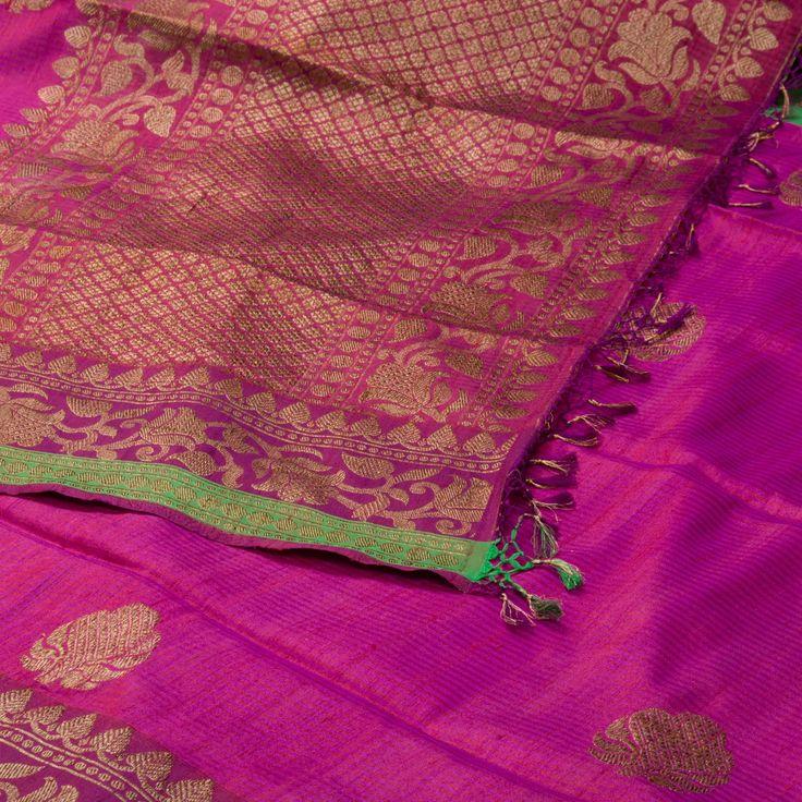 "The ""#Rose #Pink"" #handwoven #Banarasi #Tussar #Silk Sari from Ambi is woven…"