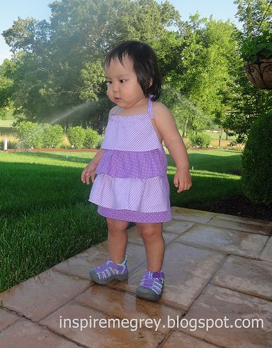 Inspire Me Grey: Free Sewing Tutorials for Kids: Ruffled Halter Dress and Diaper Cover