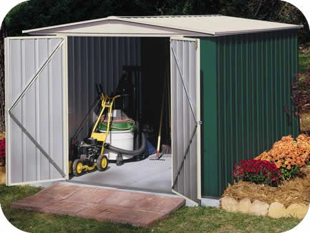arrow 8x5 green sentry metal storage shed kit clearance sheds